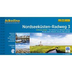 Nordseeküsten Radweg kerékpáros atlasz 3. Esterbauer 1:75 000 Észak-tengeri kerékpáros atlasz