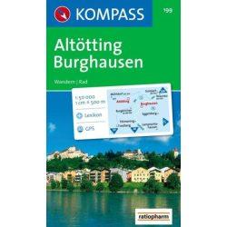 199. Altötting, Burghausen turista térkép Kompass