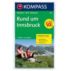 290. Innsbruck, Rund um, 2teiliges Set mit Naturführer turista térkép Kompass