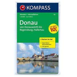 161. Donau, von Donauwörth bis Regensburg, 2teiliges Set mit Naturführer turista térkép Kompass