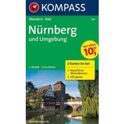 163. Kompass Nürnberg turistatérkép Nürnberg und Umgebung, 2teiliges Set mit Naturführer Kompass