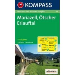 22. Mariazell, Ötscher, Erlauftal turista térkép Kompass 1:25 000