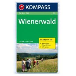 208. Wienerwald, 2teiliges Set mit Naturführer, 1:25 000 turista térkép Kompass