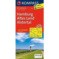 3007. Hamburg, Altes Land, Alstertal kerékpáros térkép 1:70 000  Fahrradkarten