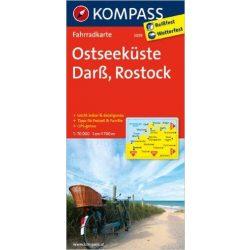 3019. Ostseeküste, Darß, Rostock kerékpáros térkép 1:70 000  Fahrradkarten