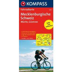 3021. Mecklenburgische Schweiz, Müritz, Güstrow kerékpáros térkép 1:70 000  Fahrradkarten