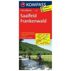 3080. Saalfeld, Frankenwald kerékpáros térkép 1:70 000  Fahrradkarten
