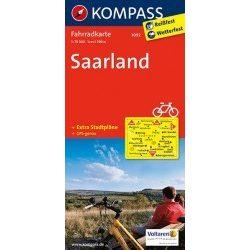 3092. Saarland kerékpáros térkép 1:70 000  Fahrradkarten
