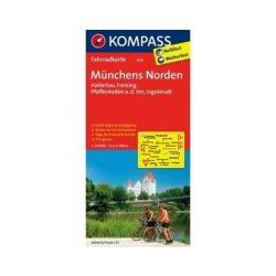 3114. Münchens Norden, Hallertau, Freising, Pfaffenhofen a.d. Ilm, Ingolstadt kerékpáros térkép 1:70 000  Fahrradkarten