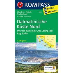 2901. Észak-Dalmácia térkép Kompass 1:100 000
