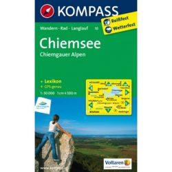 10. Chiemsee-Simssee turista térkép Kompass 1:50 000