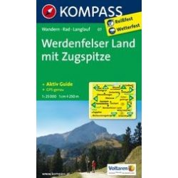07. Werdenfelser Land mit Zugspitze turista térkép Kompass 1:25 000