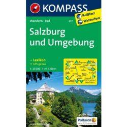 017. Salzburg és környéke turista térkép Kompass 1:25 000