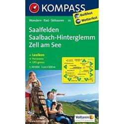 30. Saalfelden, SaalbachHinterglemm, Zell am See turista térkép Kompass