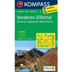 28. Vorderes Zillertal  turista térkép, Alpbach, Rofan, Wildschönau Kompass