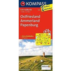 3032. Ostfriesland, Ammerland, Papenburg kerékpáros térkép 1:70 000  Fahrradkarten