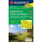 2452. Appennino Tosco Emiliano, D/I turista térkép Kompass