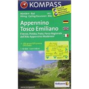 2453. Appennino Tosco Romagnolo, D/I turista térkép Kompass