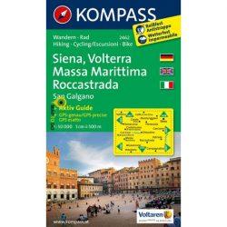 2462. Siena, Volterra, Massa Marittima, Roccastrada, D/I turista térkép Kompass