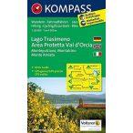 2463. Lago Trasimeno, Area Protetta Val d'Orcia, D/I turista térkép Kompass