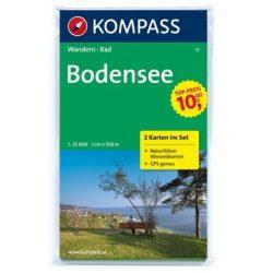 11. Bodensee turista térkép Kompass 1:35 000