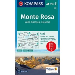 88. Monte Rosa turista térkép Kompass 1:50 000  2017