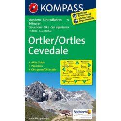 72. Ortler, Cevedale turista térkép Kompass 1:50 000