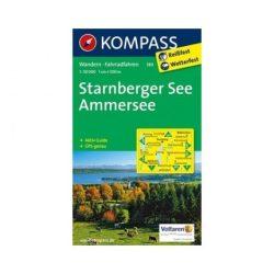 180. Starnbrger See-Ammersee turista térkép Kompass 1:50 000