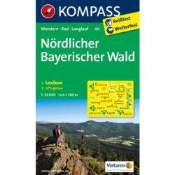 195. Nordlicher Bayerischer Wald turista térkép Kompass 1:50 000