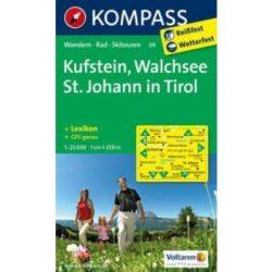 09. Kufstein-Walchsee turista térkép Kompass 1:25 000