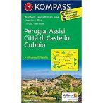 2464. Perugia, Assisi, Città di Castello, Gubbio, D/I turista térkép Kompass