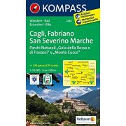 2465. Cagli, Fabriano, San Severino Marche, D/I turista térkép Kompass