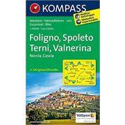 2473. Foligno, Spoleto, Terni, Valnerina turista térkép Kompass 1:50 000