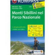 2474. Monti Sibillini nel Parco Nazionale turista térkép Kompass 1:50 000