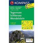 8. Tegernsee, Schliersee, Wendelstein turista térkép Kompass