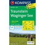16. Traunstein, Waginger See turista térkép Kompass