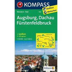 190. Augsburg, Dachau, Fürstenfeldbruck turista térkép Kompass