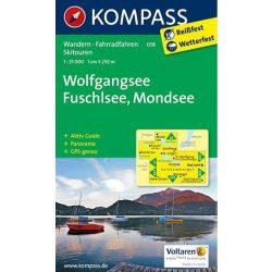 018. Wolfgangsee turista térkép Kompass 1:25 000