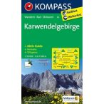 26. Karwendelgebirge turista térkép Kompass