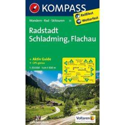 31. Radstadt Schladming turista térkép, Flachau térkép Kompass 1:50 000