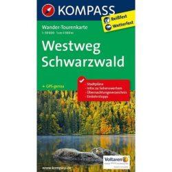 2505. Westweg Schwarzwald turista térkép wandertourenkarten