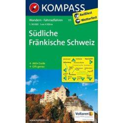 171. Fränkische Schweiz, Südliche turista térkép Kompass