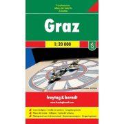 Graz város atlasz Freytag & Berndt 1:20 000