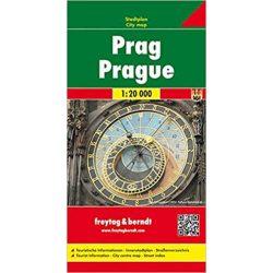 Prága térkép Freytag & Berndt 1:20 000 keményborítós