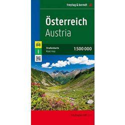 Ausztria térkép Freytag  1:500 000   Ausztria autótérkép