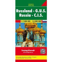 Oroszország térkép - FÁK, 1:2 000 000-1:8 000 000  Freytag térkép AK 37
