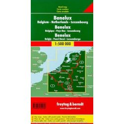 Benelux államok térkép 1:500 000 Freytag AK 80