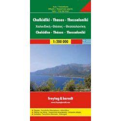 Khalkidiki térkép, Thasos, Thessaloniki térkép Freytag & Berndt 1:200 000