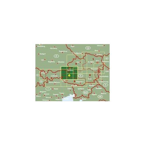 Ausztria 6 Salzburg-Salzkammergut térkép, 1:200 000 Freytag OE 6