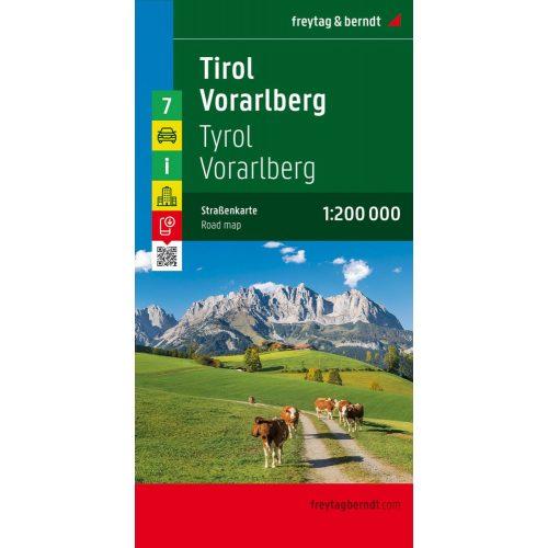 Ausztria 7 Tirol Terkep Tirol Vorarlberg Terkep 1 200 000 Freytag